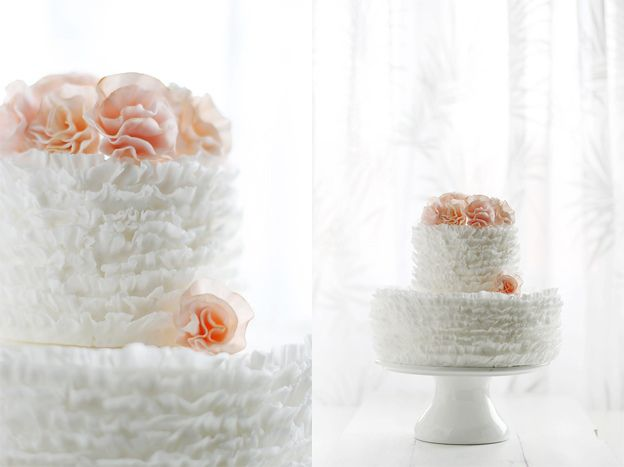 Frilly cake by Call me cupcake, via Flickr: Frilly Cake, Fondant Cake, Ruffle Cake, Cake Decor, Wedding Cakes, Flower Tutorial, Cake Tutorials, Ruffles Cake, Fondant Flower