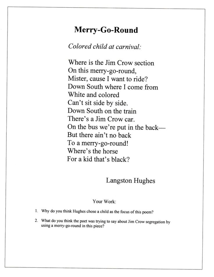 an analysis of langston hughes black poetry Langston hughes was first recognized as an important literary figure during the 1920s, a period known as the harlem renaissance because of the number of emerging black writers.