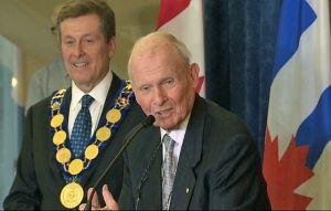Mayor John and the great Bill Davis