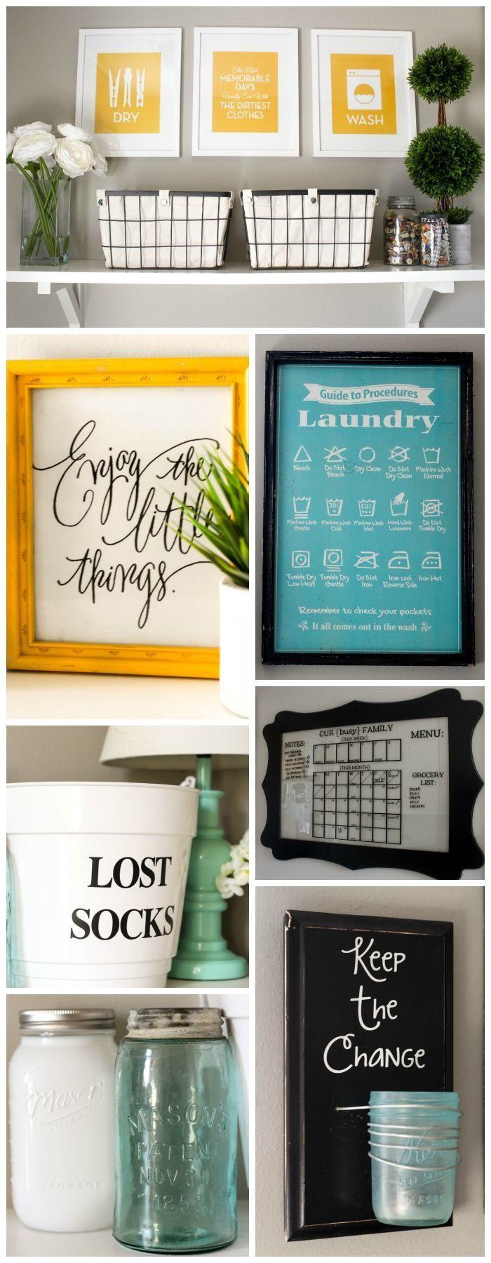 Beautiful Laundry Room Makeover on { lilluna.com }