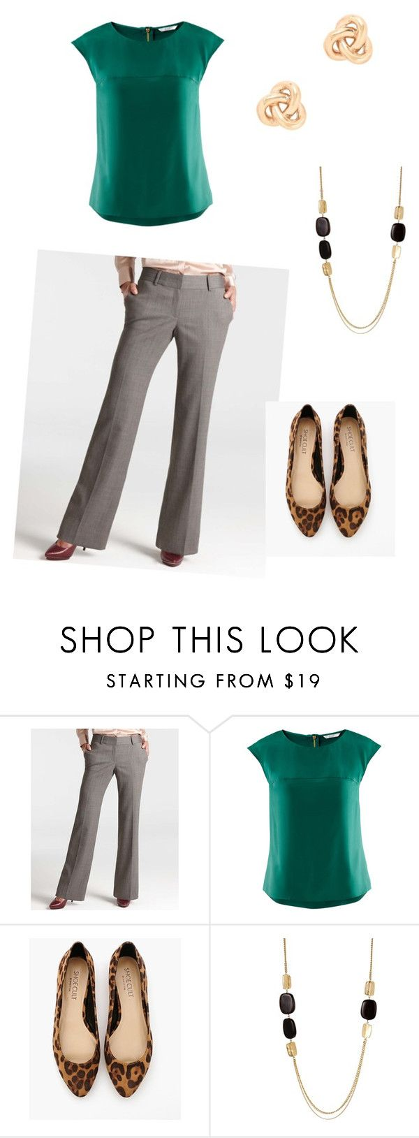 """""""Work Outfit #3"""" by littlekass ❤ liked on Polyvore featuring Ann Taylor, H&M, Shoe Cult, Kenneth Cole and J.Crew"""
