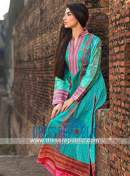 Buy Online Umar Sayeed Designer Lawn Dresses 2014  Pakistani Lawn Designers 2014: Buy Online Umar Sayeed Designer Lawn Dresses 2014 by Al Karam Textiles on Dressrepublic. Worldwide Delivery. by www.dressrepublic.com