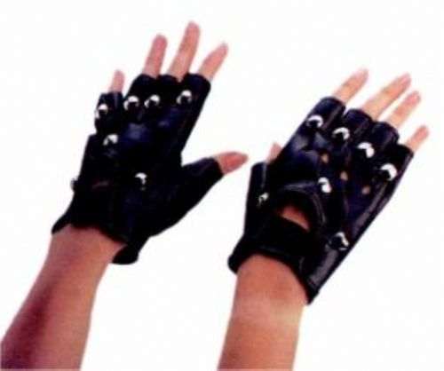 Studded Gloves - Great accessory for your biker, goth or everyday costume. #gloves #yyc #costume