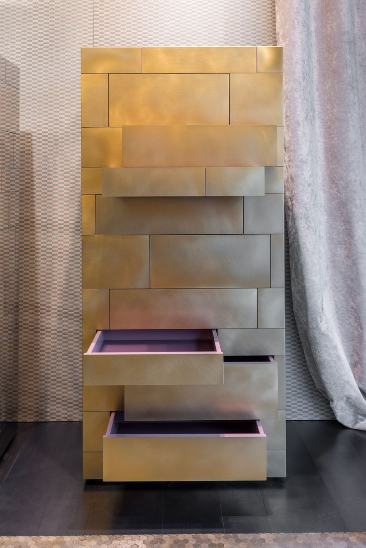 CELATO, chest of drawers deluxe edition. Brass finish WUNDERKAMMER collection design Nikita Bettoni #chestofdrawers #brass #deluxe #decastelli