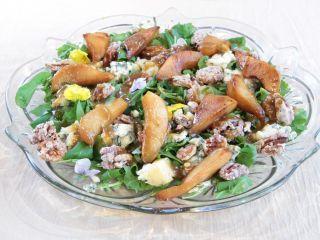 Ensalada de peras - Receta:Juliana López May- El Gourmet- Diseños de Navidad