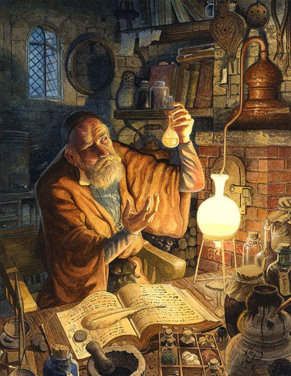 De Engelsman trok de woestijn door om de alchemist, die daar woont, te ontmoeten. De alchemist trekt samen met Santiago verder naar de piramiden. Gedurende deze tocht leert hij veel bij over de alchemie en over hoe de wereld in elkaar zit.