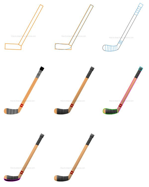 How To Draw A Hockey Stick Clip Art In 2020 Hockey Clip Art