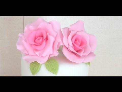 Tutorial - Rosa de fondant ( Pasta de flores )
