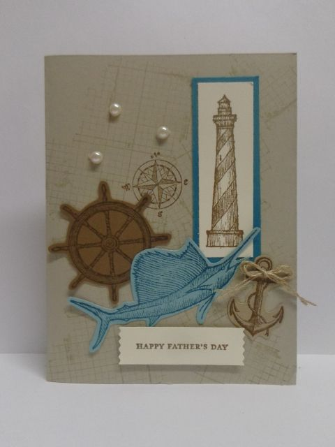 Stampin' Up!  From Land to Sea and The Open Sea stamp sets.