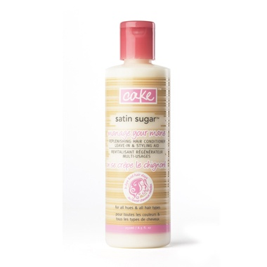 satin sugar replenishing hair conditioner, leave-in and styling aid y #cake beauty