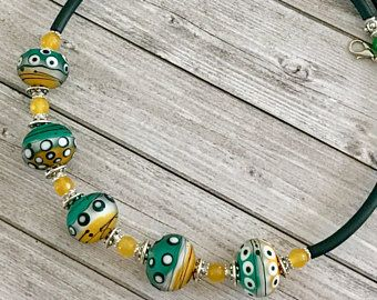 Collana verde gioielli - regalo per le donne - murano vetro collana - collana bohemien - arte da indossare - artigianale handmade Murano - verde