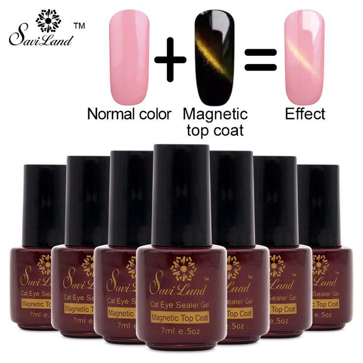 Saviland 1 stücke Magnet Top Mantel mit Katzenauge Nägel Gelpoliermittel Soak Off UV Katzenauge Sealer Gel Lack Magnetische Decklack
