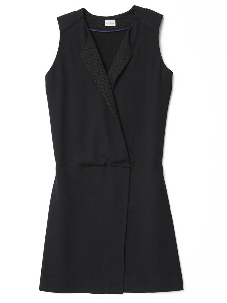 Soldes Robe SMOKING Femme COL DANTON prix promo soldes Cyrillus 77.40 € TTC au lieu de 129.00 €