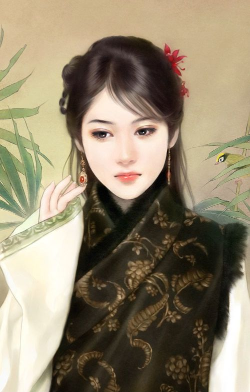 Chinese girl in robe?