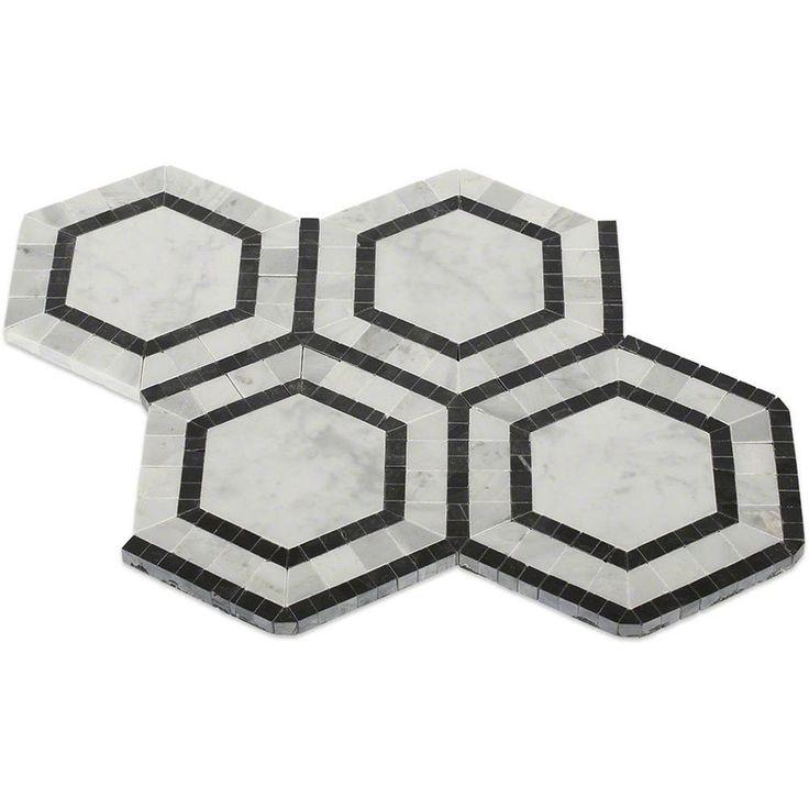 Splashback Tile Zeta Carrera 10 3 4 In X 12 1 Mm Polished Marble Mosaic White