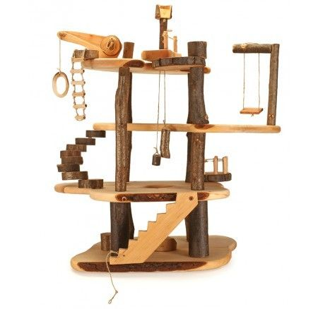 Magic Wood - Buildable Wooden Tree House This would be perfect for my sons imaginative  mind! So beautiful #entropywishlist #pintowin