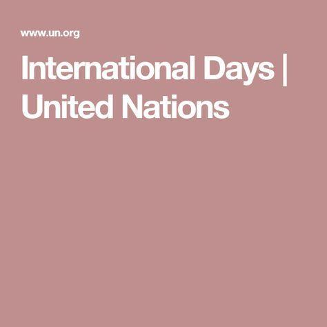 International Days | United Nations
