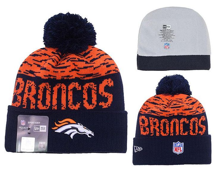 Men's / Women's Denver Broncos New Era NFL 2016 On-Field Sports Knit Pom Pom Beanie Hat - Orange / Navy