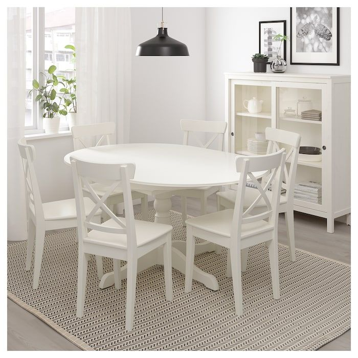 Petite Table De Cuisine Blanche: IKEA INGATORP White Extendable Table In 2019
