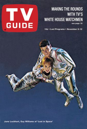 June Lockhart and Guy Williams, Lost in Space, Nov. 6, 1965-One of my favorite shows as a kid!