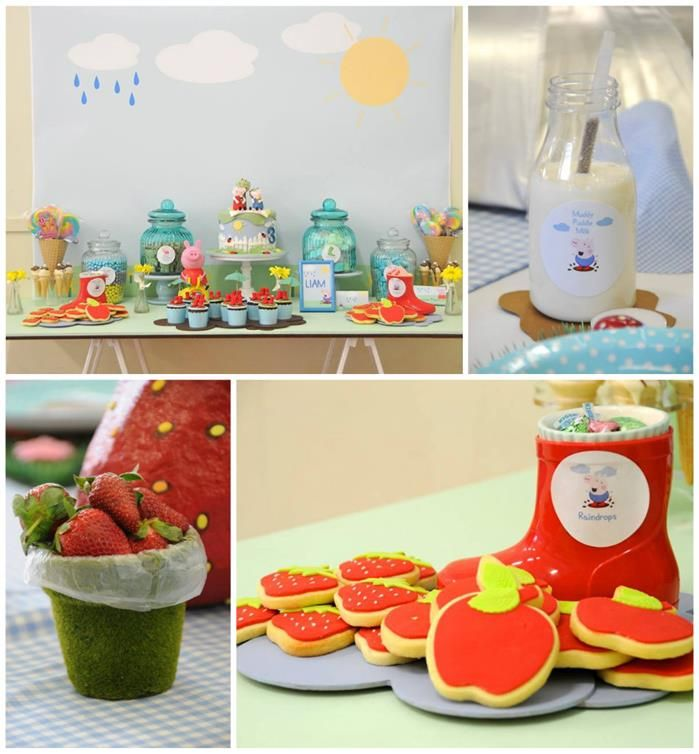 Peppa Pig Party with Lots of Fun Ideas via Kara's Party Ideas | KarasPartyIdeas.com #PeppaPig #PartyIdeas #PartySupplies
