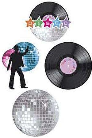 70/80/disco versiering, Disco decoratie set van 4 stuks bestellen. Partyshopper.nl, de feestwinkel van Europa. Bestel nu Disco decoratie set van 4 stuks,