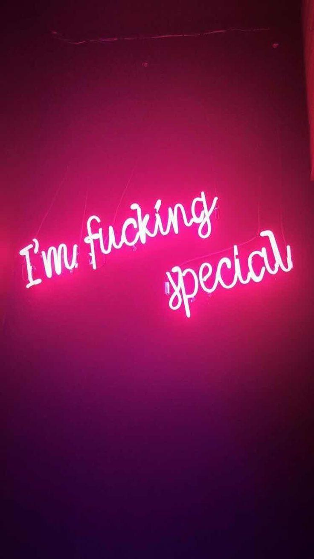 Fonds D Ecran Iphone Et Android Je Suis F Fond D Ecran Special Pour Iphone Et Android In 2020 Special Wallpaper Pink Wallpaper Iphone Neon Quotes