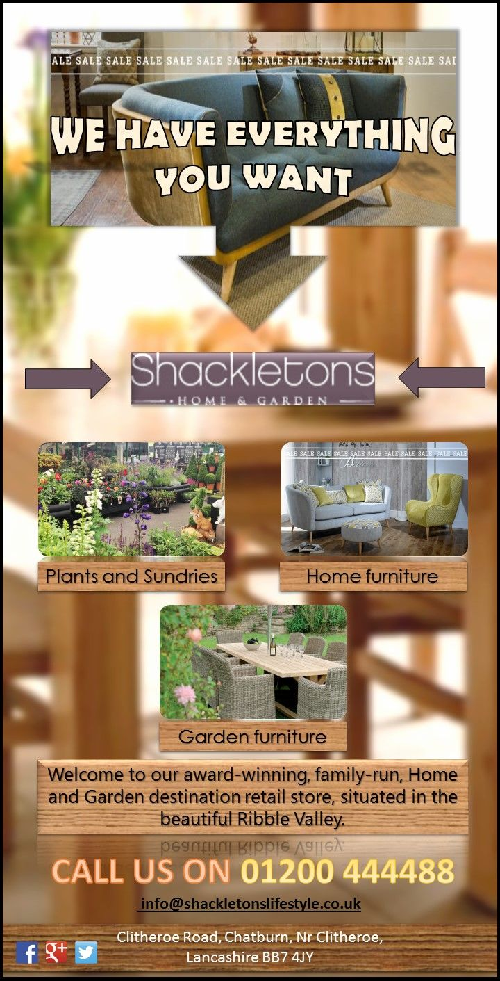 Shackletons are leading dealers of indoor and outdoor furniture in  Lancashire  UK  Visit store. 21 best images about Shackletons Home and Garden furniture on
