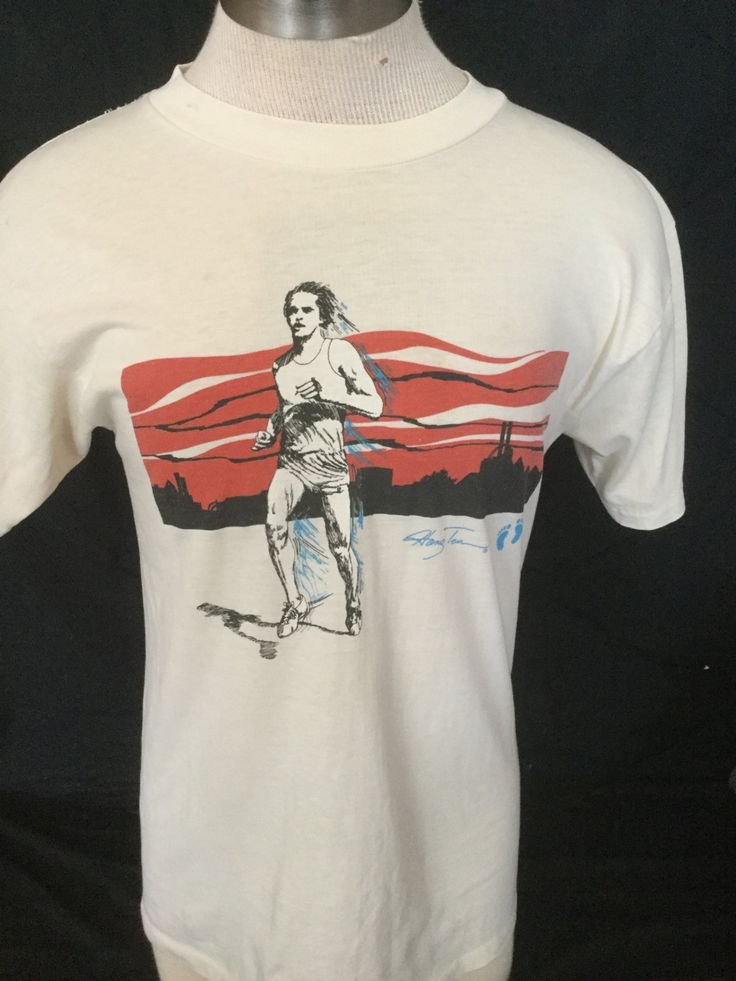 Vintage 1980's Running Shirt Hang Ten50/50 Large Made in USA by 413productions on Etsy
