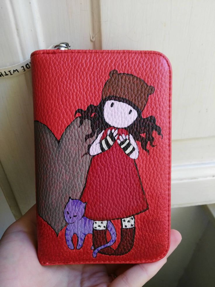 Portafoglio donna rosso dipinto by HakunaMatataAM on Etsy