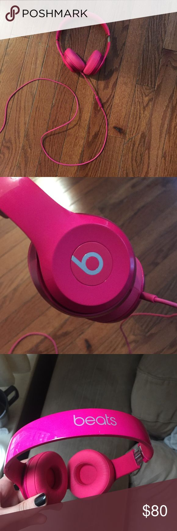 Pink Beats by Dre Solo 2 On-Ear Headphones Like-new condition. Rarely used. Final sale, sent with love. 💕 Beats by Dre Other