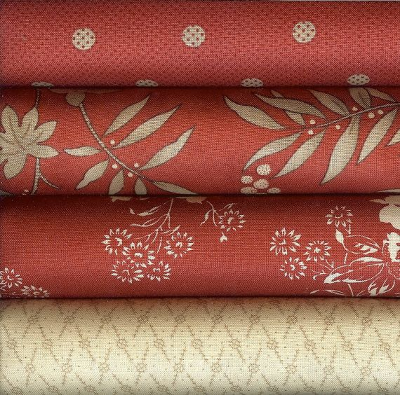 INDEPENDENCE TRAIL By Minick & Simpson for Moda Currants and Pebble - Fat Quarter Bundle 4 Fat Quarters