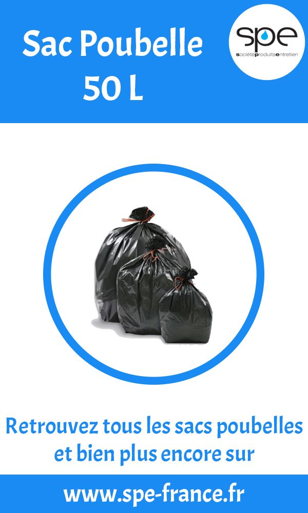 Sac poubelle 50l professionnels et particuliers sur www.spe-france.fr . Que vous soyez un hôtel restaurant, un café, une entreprise de propreté, une industrie, trouvez le produit de nettoyage dont vous avez besoin.