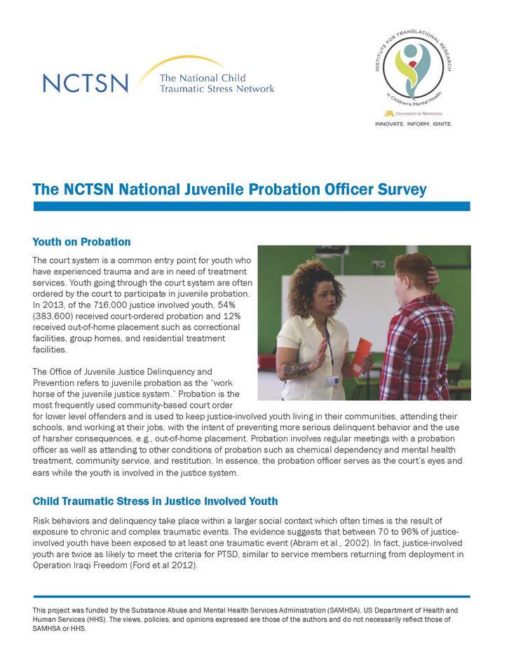 The NCTSN National Juvenile Probation Officer Survey