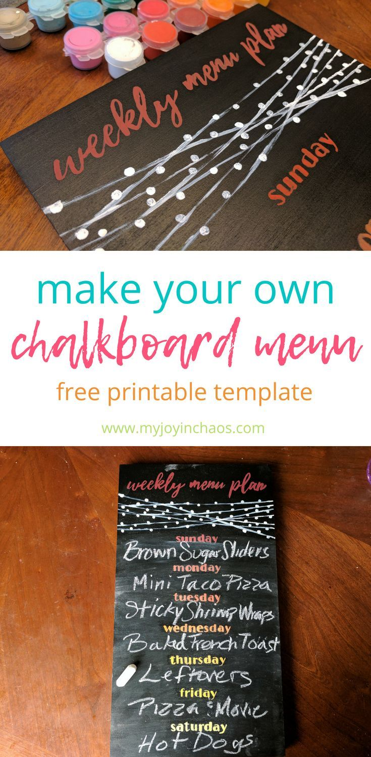 diy menu chalkboard free printable template included thoughts