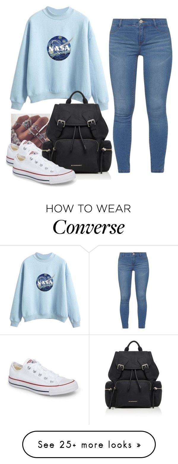 """""""Random#9876"""" by cfull on Polyvore featuring Dorothy Perkins, Converse and Burberry"""