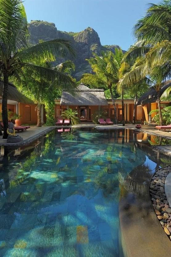Dinarobin Hotel, Mauritius.Luxury House, Mauritius, Dreams House, Tropical Pools, Dinarobin Hotels, Travel, Places, Outdoor Pools, Spa