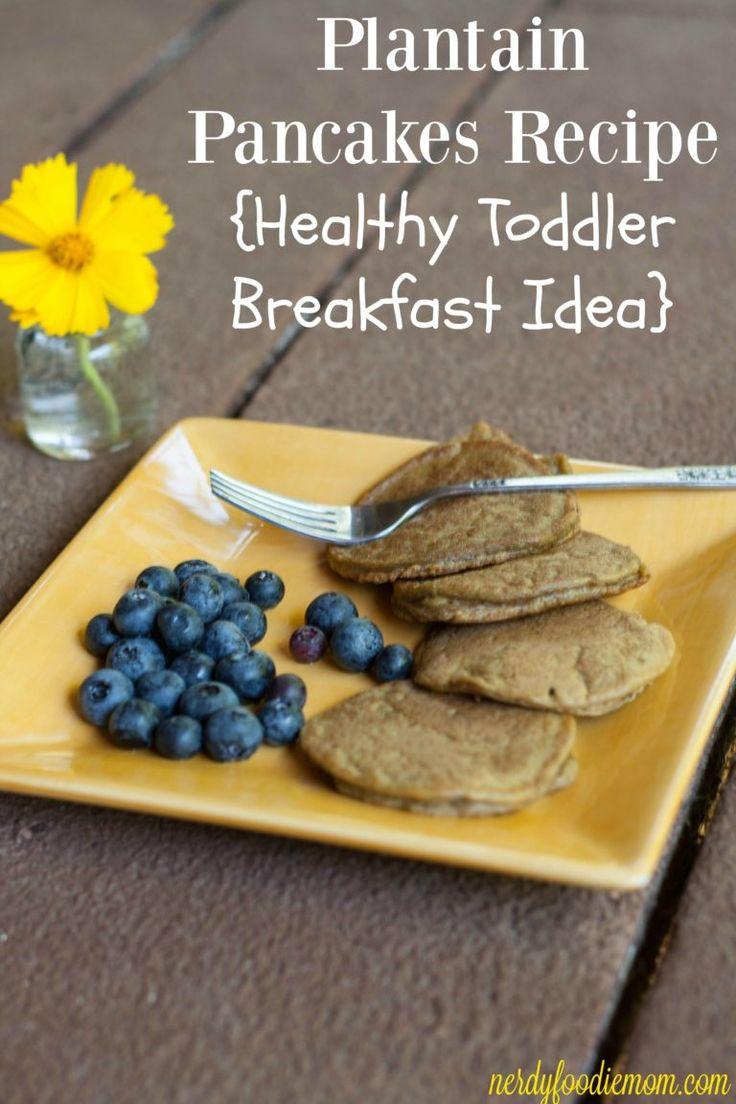 Plantain Pancakes Recipe - Healthy Toddler Breakfast Idea #NutritionintheMix #Walmart #ad