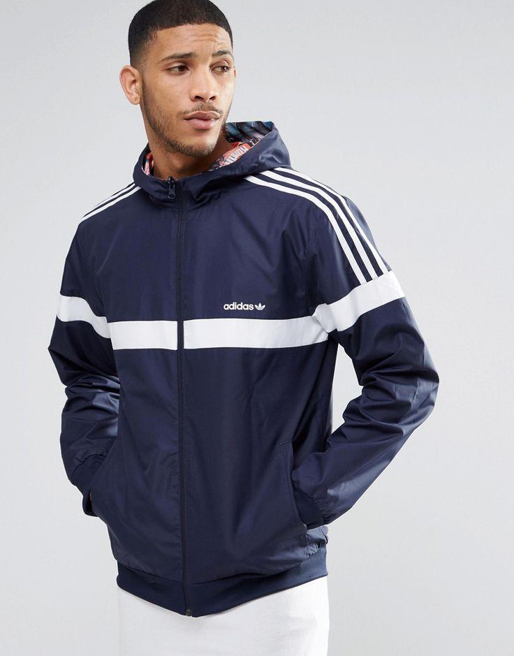 Image 1 of adidas Originals BTS Reversible Windbreaker Jacket AY7773