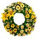 Mixed big flower wreath for Hyderabad delivery. Free home delivery to all location in Hyderabad. Visit our site : www.flowersgiftshyderabad.com/Condolence-to-Hyderabad.php