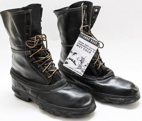 WW2 WWII Deadstock US Army Mountain Division Winter Snow Pac Boots Military Biker Camp Hiking Red Wing Work Rubber ll bean RRL Filson 13 W