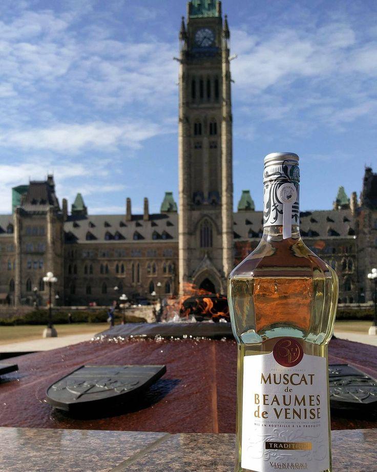 Le #Muscat s'invite au Parlement Canadien ...   #Ottawa #Parliament #ParliamentHill #Canada #RoadTrip #Wine #BeaumesDeVenise #Winelover