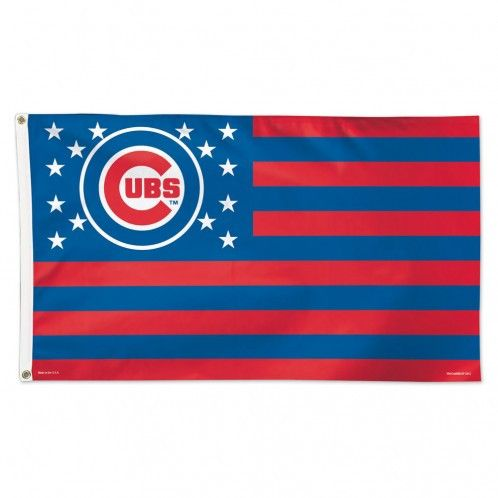 Chicago Cubs Flag - 3'x5' Deluxe - Stars and Stripes