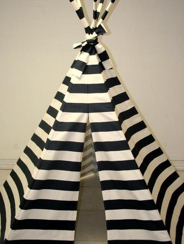 Navy Blue Stripe Teepee contemporary kids toys Organic kids Products http://organicproducts.gr8.com