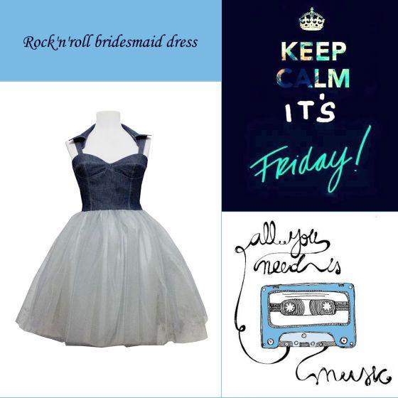 Rock'n'roll bridesmaid dress