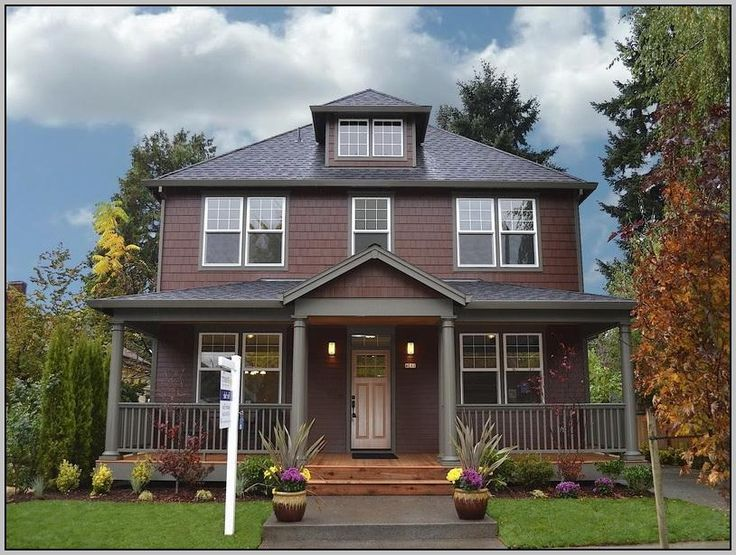 Exterior Color Schemes For Houses With Brown Roof | House ...