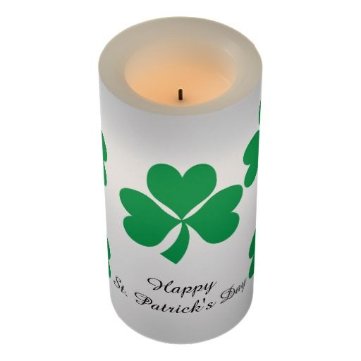 St. Patrick's Day flameless candle