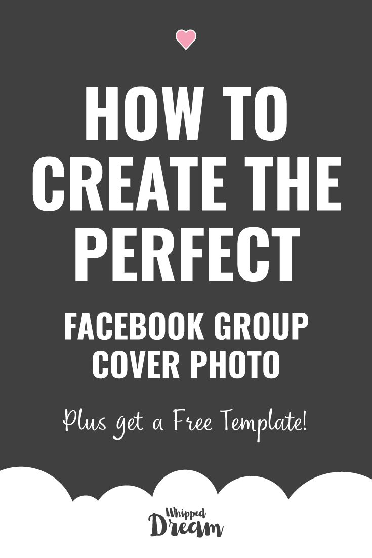 How to Create the Perfect Facebook Group Cover Photo | Plus get a FREE template! Facebook changed the size of the Facebook group cover photo on November 27, 2017.