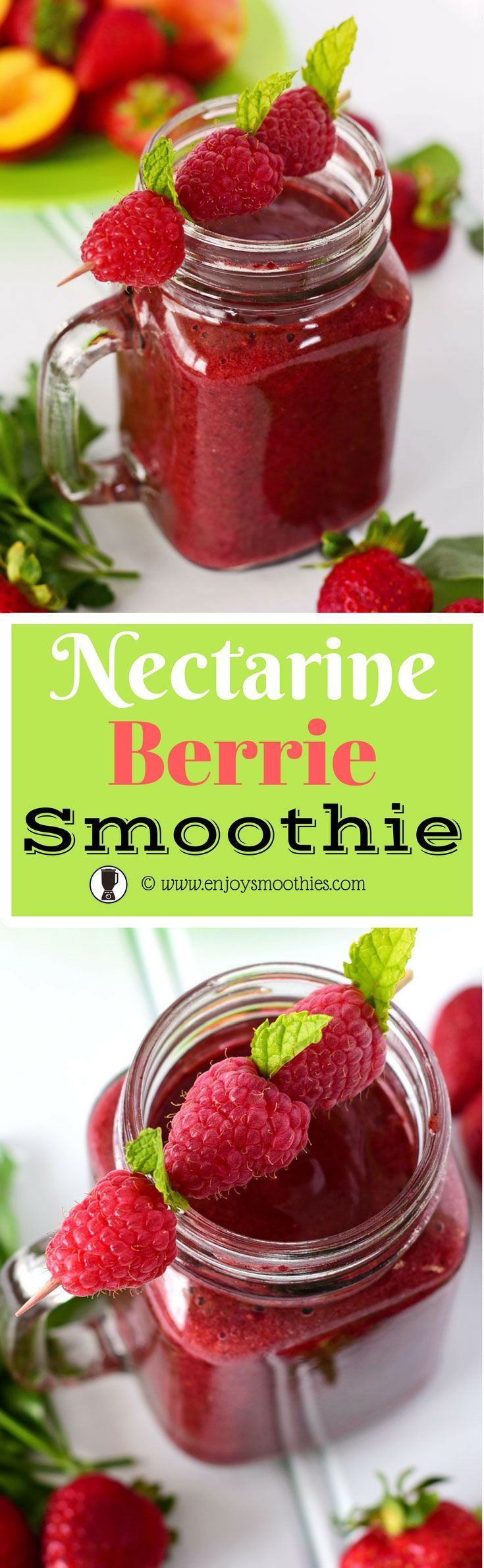 Nectarine Smoothies - antioxidant superstars rich in Vitamins A and C http://juicerblendercenter.com/what-are-the-health-benefits-of-juicing/