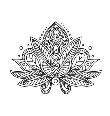 Persian Or Turkish Paisley Flower Henna Lotus Vector By Seamartini On VectorStockR